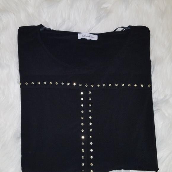 Calvin Klein Tops - Calvin Klien studded dressy shirt 1X